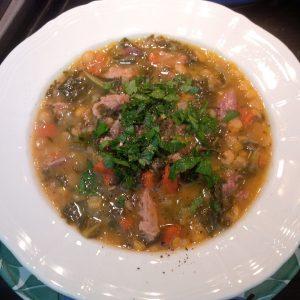 Paula's split pea soup